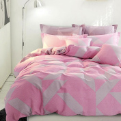Spring And Autumn Paragraph Simple Cotton Bedding Super Soft Warm Home Textile Suite,Honeylove