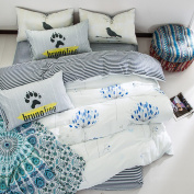 European Simple Bed Sheets Fashion Personality Cotton Bedding,Blooming-1.5/1.8
