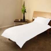 COT BED DUVET COVER WITH PILLOWCASE- SUPERIOR NATURAL COTTON RICH 120 X 150 CM - WHITE
