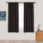 Bedroom Curtain Drapes Window Treatments - PONY DANCE Top Rod Pocket Thermal Insulated Room Darkening Curtains / Energy Saving Drapes for Dining Room,