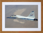 WAR MILITARY PLANE FIGHTER JET NASA TALON T38 FRAMED PRINT F12X4047