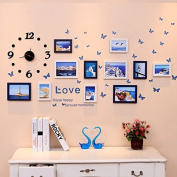 NAUY- Photo Wall Photo Frame Wall Living Room With Clocks And Children's Photo Wall Creative Wall Frame Combination