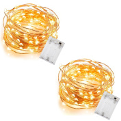 InnoWill [2 Pack] 5M Wire 50 Lights Warm White Home Decoration
