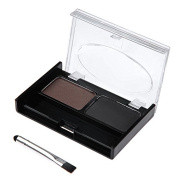 2 Colour Waterproof Eyebrow Powder Palette Kit with Eye Brow Brush Cosmetic Make up Grooming Tools