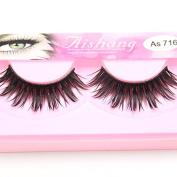 Makeup 4Pairs Natural Long Fake Eye Lashes Handmade Thick False Eyelashes Black …