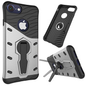 For iPhone 7 Case,Vandot [Tough Armour] Case with Kickstand and Extreme Heavy Duty Protection and Air Cushion Technology for iPhone 7 Slim Hybrid Rigid Rugged Dual Layer Shock Absorption High Impact Defender Case for iPhone 7 12cm -Grey Grey