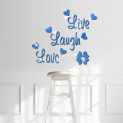 RUGAI-UE The mirror wall English bedroom living room decorative mirror attached letter,blue