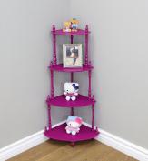 Frenchi Home Furnishing Kid's 4-Tier Shelves, Purple