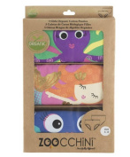 Zoocchini Caribbean Set of 3 briefs for Girls 5-6 Years