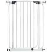Milo & Misty Extra Tall 100cm Pet Gate with 72 - 82cm High Pressure Fit - White