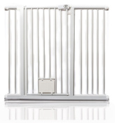 Bettacare Gate with Lockable Cat Flap Pressure Fitted Gate 75cm - 148.7cm Stair and Pet Gate