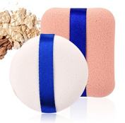 Yeah67886 2Pcs Professional Cosmetic Sponge Flawless Foundation Sponge Powder Smooth Puff