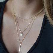 Yean Necklace Pendant Multilayer Necklace for Women and Girls