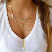 Yean Necklace Long Multilayer Necklace for Women and Girls