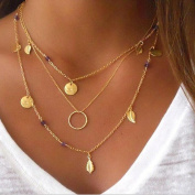 Yean Necklace Multilayer Necklace for Women and Girls