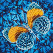 Diamond Dotz Diamond Embroidery Facet Art Kit 38cm x 38cm -Flutter By Gold