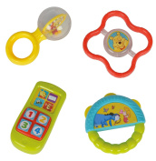 """Simba 109331004 """"Winnie The Pooh 4 In 1"""" Rattle Set"""