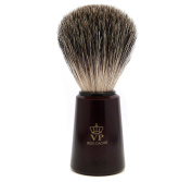 Shaving Brush Royal VP - with real, pure badger hair - brown handle