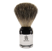 Shaving Brush Royal VP - with genuine, pure badger hair - transparent handle