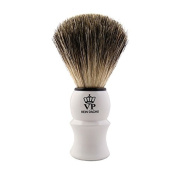 Shaving Brush Royal VP - with real, pure badger hair - handle white