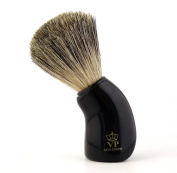 Shaving Brush Royal VP - with real, pure badger hair - handle black and curved