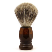 Shaving Brush Royal VP - with finest quality badger hair - synthetic resin handle havanna