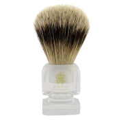Shaving Brush Royal VP Premium in finest quality with silver tip badger hair - transparent grip