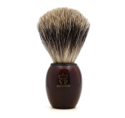 Shaving Brush Royal VP Premium finest quality with silver tip badger hair - synthetic resin handle tortoiseshell