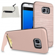 TOCASO Case Luxury SmartPhone Case for Samsung Galaxy S7 Edge Case Rose Gold, Transparent Cell Phone Cover Protective Shell for Samsung Galaxy SM-G9350, Colourful Lightweight Soft Slim TPU Protective Cover Provide Full Body Protection Drop Resistant wi ..