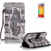 For Samsung Galaxy S7 Case Cover [with Free Screen Protector], Funyye Practical Fashionable New 3D Patterns PU Folio Leather Wallet Designer Flip Magnetic with [Wrist Strap] and [Card Holder Slot] Shock Absorber Full Body Protection Holster Case Cover ..