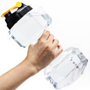 Dulcii 2.2L PETG Eco-friendly Dumbbell Water Jug Sports Fitness Equipment Shape Kettle Juice Bottle Exercise Water Bottle Cup