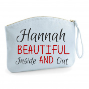 Personalised Any Name Beautiful Inside And Out Make Up Statement Make Up Bag - Cosmetic Canvas Case