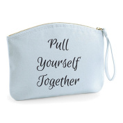 Pull Yourself Together Make Up Statement Make Up Bag - Cosmetic Canvas Case