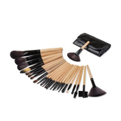 Makeup Brushes,Saking 24 Pieces Professional Foundation Eyebrow Eyeliner Eyeshadow Blush Powder Cosmetics Brush Set