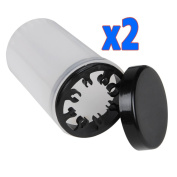 Coscelia 2pcs Nail Art Brush Cleaning Soaker Bottle Polish Remover Container Cup Empty Holder