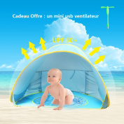 Oummit Pop-up Baby Tent with Beach Pool Automatic Foldable Portable Tent Sun Protection Anti UV Very Suitable for Beach Holidays
