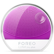 FOREO LUNA Play Plus, Portable Facial Cleansing Brush, Purple, Replaceable Battery and Waterproof Skin Care Device