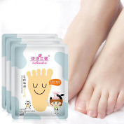 Oshide Exfoliating Foot Mask Milk Essence Foot Socks Deep Moisturising Foot Pack Socks-3 Pair