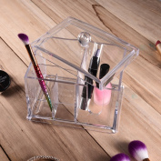 Greencolourful Multifunctional Transparent Storage Box Cosmetic Pens Q-tip Lipstick Collecting Box Acrylic Makeup Organiser Cosmetic Organiser Beauty Container