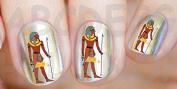 AWS Set Water Newsee Decals Pharaoh Egyptian Egypt Hieroglyphics Premier Decorations Stickers Nail Art Transfer Reconstruction Nail Art Decoration Egyptian Egypt Pharaoh