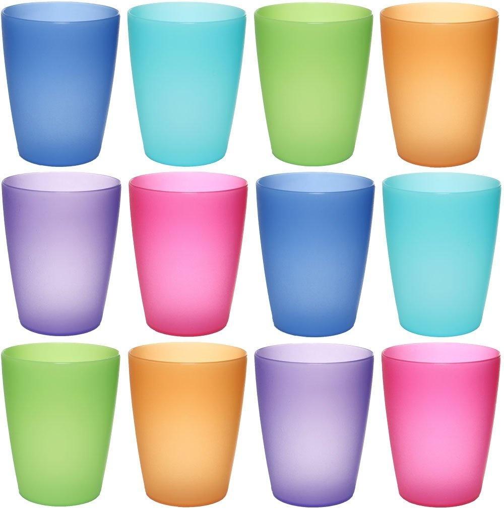 f3594e6e7bf idea-station NEO plastic cups 12 pieces, 250 ml, colourful, reusable ...