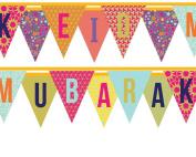 Happy Eid Mubarak bunting flag banners Muslim Decoration Eid Ramadan Gifts