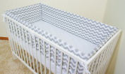 NURSERY BUMPER 360cm long ALL ROUND BUMPER to fit Cot (120/60cm),