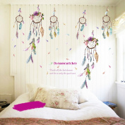 LianLe 100*150cm Dreamcatcher Wall Sticker Removable Quote Mural Decal for Living Room Kid's Room Bedroom