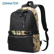 Fashion Trend male Pack sports Backpack Students Backpack Korean edition leisure travel double shoulder bag, camouflage black