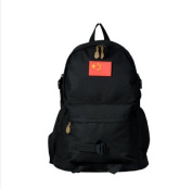Young men and women mountaineering travel bags Camouflage canvas sports shoulder bags travelling backpack, pure black