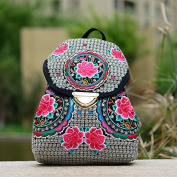 National Wind Embroidery bags embroidered canvas hundred travel students backpack backpacks ladies shoulder bags, red roses