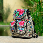 National Wind Embroidery bags embroidered canvas shoulder simple chest bag lady satchel bag, small roses small chest bag