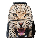 Ishop 3D Print Animal Water Resistant School Backpack for Kids, Laptop Bags for Boys and Girls