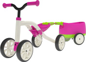 """Chillafish CPQT01PIN Pink 4-Wheeled """"Grow-With-Me"""" Ride-On Quad and Trailer Combo"""